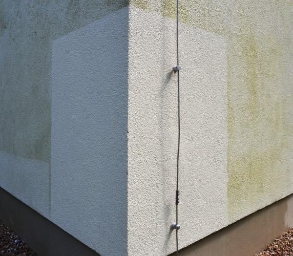 Fassadenreinigung - Probefläche Düsseldorf