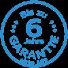 Logo 6 Jahre Garantie blau